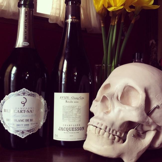 Champagne Skull